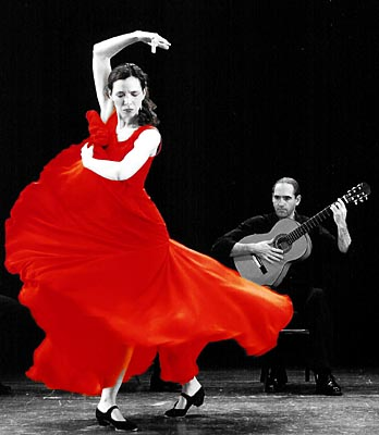 Una mujer bailando el Flamenco