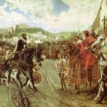 Ein historischer Momment: Muhammed der VII übergibt Granada dem katholischen Königspaar