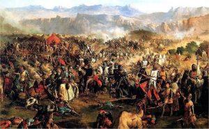 Die Reconquista erforderte jahrzehnte lange Schlachten. Die letzte in Granada.