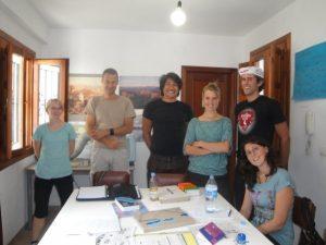 Schüler der Escuela Delengua in Granada, die einen Intensivkurs besuchen