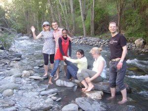 Fremde Kulturen kennen lernen während der Freizeitaktivitäten dank dem guten Nationalitäten-Mix von Delengua